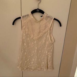 🌼2 for 10🌼 White Lace Forever 21 Top